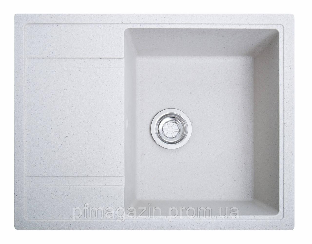 Мийка кухонна Оптима, колір - білий (ДхШхГ-650х510х200)