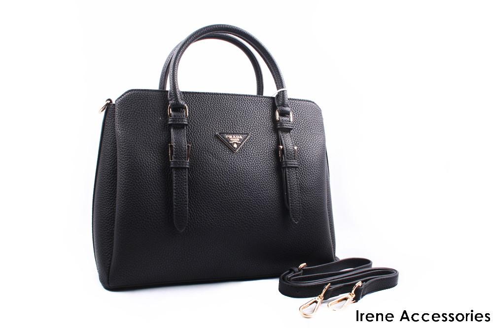 Стильная женская сумка PRADA цвет черный