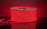 Лента светодиодная красные диоды LED 5050 100m 220V, красная диодная лента
