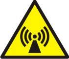 """Знак """"Обережно! Неіонізуюче випромінювання (електромагнитне поле)"""""""