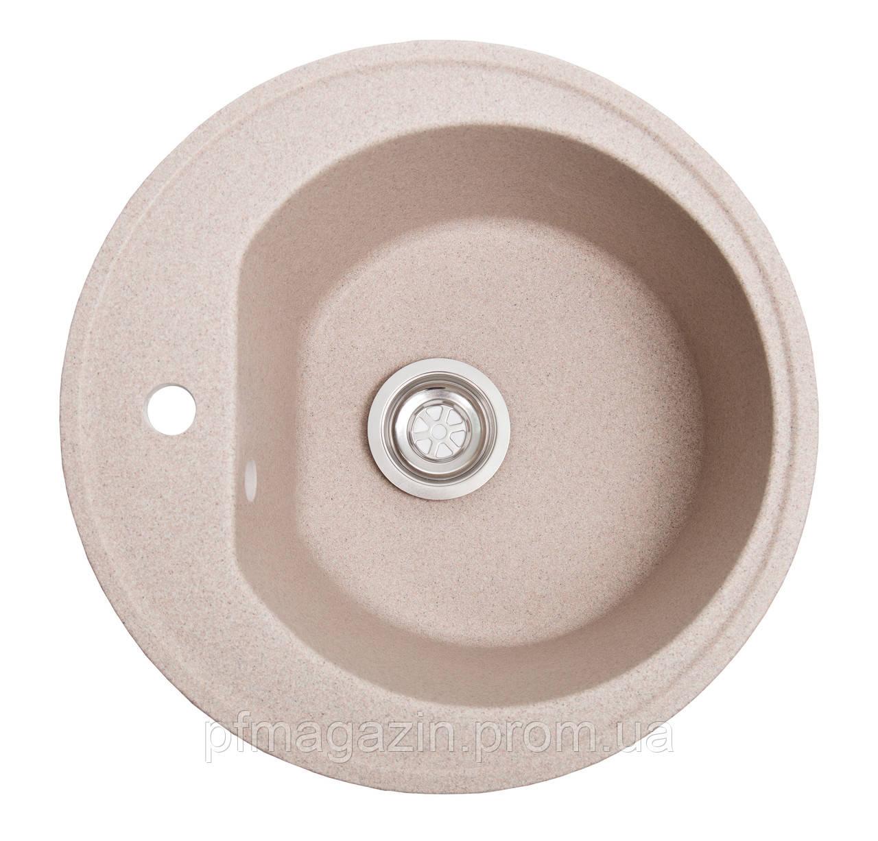 Мойка кухонная Solid Классик, розовый (ДхГ- 510х200)