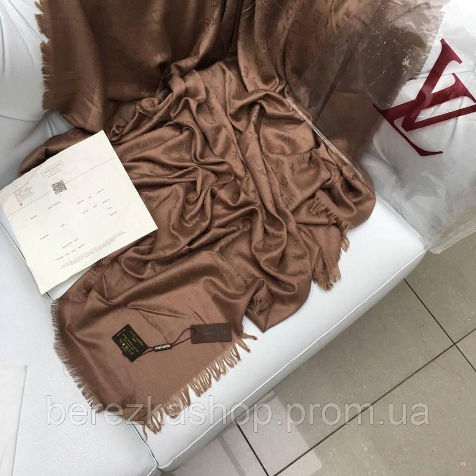 9871d057ff9b Палантин монограммы шерсть шелк коричневый: продажа, цена в Киеве. платки,  шали, ...