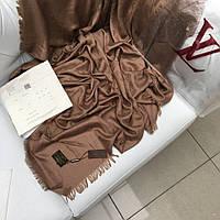 Палантин Louis Vuitton LV монограммы шерсть шелк коричневый