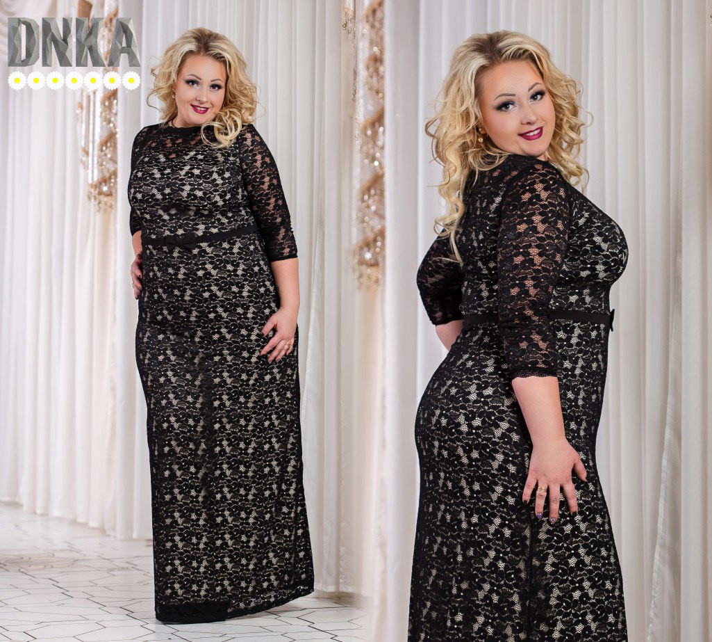 2b284cabe94 Гипюровое платье №д792 больших размеров (2 цвета)  продажа