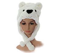 Шапка Медведь белая
