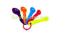 Ложки мерные пластиковые из 5-ти штук цветные (1мл 2,5мл 5мл 7,5мл 15мл)