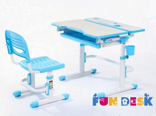 Комплект парта-трансформер и стул Lavoro Blue