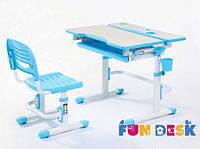 Комплект парта-трансформер и стул Lavoro Blue, фото 1