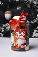 Конфеты в банке З Новим роком (чаювання),новогодние подарки