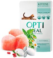 Консерва для котов Optimeal для котят с курицей