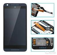 Дисплей для HTC 626G Desire Dual Sim + touchscreen. чёрный, с передней панелью чёрного цвета