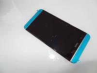 Дисплей для HTC 801e One M7 + touchscreen, чёрный, с передней панелью серебристого цвета