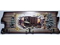 Оригинальная ключница на 6 крючков KC362, деревянная вешалка для ключей, ключница для дома