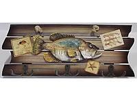 Ключница для дома в морском стиле KC363, деревянная ключница на 6 крючков, вешалка для хранения ключей