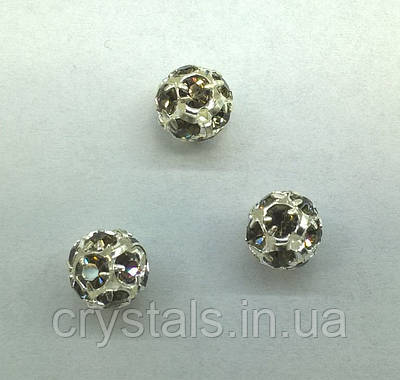 Стразовая бусина Preciosa (Чехия) 10 мм Black Diamond