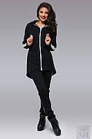 Стильный женский костюм с удлиненной кофтой