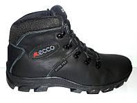 Ботинки зимние ECCO мужские кожаные высокие E0027