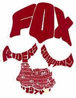 Наклейка FOX Legends Sticker 4 inch красная