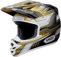 Мотошлем Shoei VFX-DT золото черный белый XL