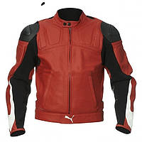 Мотокуртка Puma Leather Jacket красная, 56