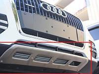 Накладка на передний + задний бампер для Audi Q5, Ауди КУ5 (Комплект)
