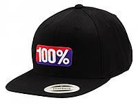 "Кепка Ride 100% ""OG"" Classic SnapBack Hat Black, One Size"