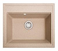 Мойка кухонная Solid Гросс, песочный (ДхШхГ-600х520х200), фото 1