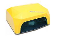 УФ лампа POWERFUL UV+LED для гель-лаков и геля 36 Вт (yellow)