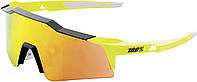 Велосипедные очки Ride 100% SpeedCraft Performance Sunglasses - Neon Yellow - Red Mirror Lens