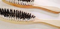 Щетка одежная деревянная с ручкой, 255мм*45мм.