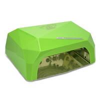 УФ лампа POWERFUL UV+LED для гель-лаков и геля 36 Вт (green)