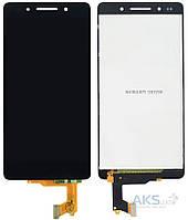 Дисплей (экран) для телефона Huawei Honor 7 PLK-L01, Honor 7 Enhanced Edition + Touchscreen Black