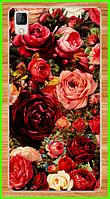 """Силиконовый чехол с принтом """"роз"""" для Bluboo maya"""