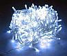 Гирлянда 100 светодиодов силиконовый шнур Белый