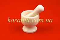 Ступка для специй мраморная белая D10,5см H10см