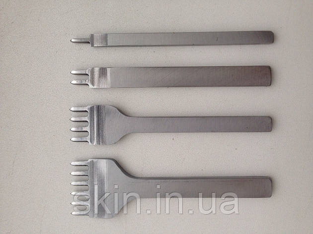 Набор вилочных просечек 1-2-4-6 зубьев, растояние между центрами зубьев 5 мм,  артикул СК 6012, фото 2