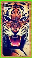 """Силиконовый чехол с принтом """"тигра"""" для Bluboo maya"""