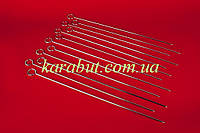 Шампура из нержавейки тонкие L41см t 3,5см в упаковке 12 штук (цена за 1 шт)