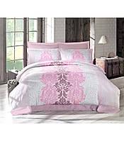 Комплект постельного белья сатин размер евро Altinbasak Vivid lila