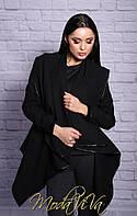 Женское черное пончо МС161