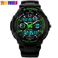 Часы Skmei S-Shock 0931 (green), Водонепроницаемые, ударостойкие, спортивные, мужские часы.