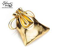 Подарочный мешочек золото упаковка