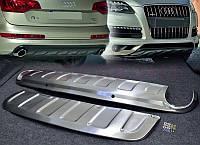 Накладка на передний + задний бампер для Audi Q7, Ауди КУ7 (Комплект)