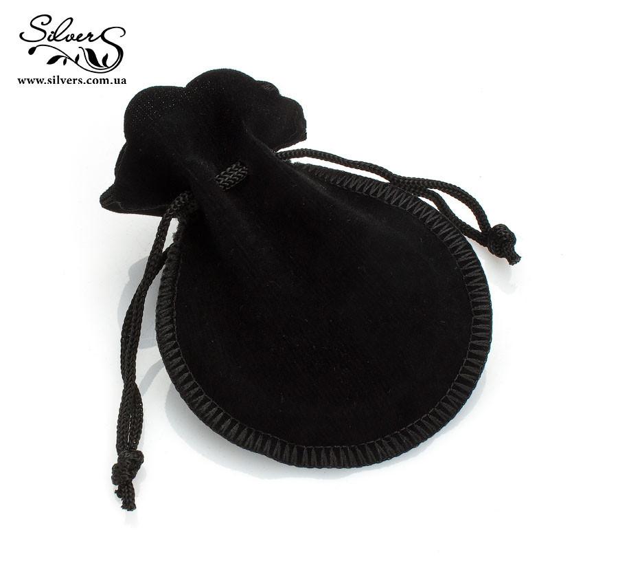 Подарочная мешочек черный бархатный. Упаковка