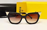 Женские солнцезащитные очки Fendi FF0060/S Цвет коричневый лео
