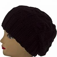 Вязанная шапка женская зима