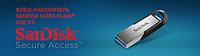 USB-флеш-накопитель SanDisk Ultra Flair™ USB 3.0 гарантирует быструю передачу файлов. Экономьте время — отдайте предпочтение высокой скорости USB 3.0, которая достигает 150 МБ/с