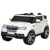 Детский электромобиль Джип M 3107 EBLR-1, 4 мотора,мягкие колеса,кожанное сидение