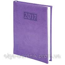 Ежедневник А5 датированный 2017 GENTLE(Torino) A5, 336стр. фиолетовый, BUROMAX, BM.2109-07