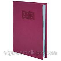 Ежедневник А5 датированный 2017 GENTLE(Torino) A5, 336стр. розовый, BUROMAX, BM.2109-10